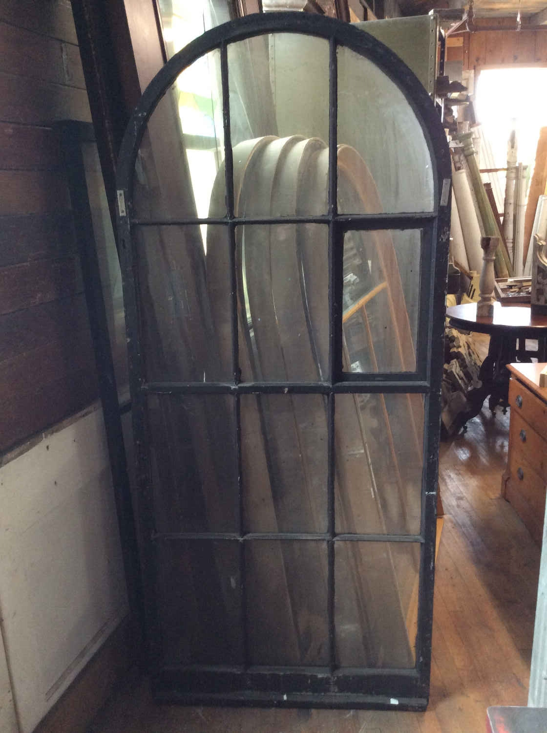 SOLD!! Victorian Arched Storm Window