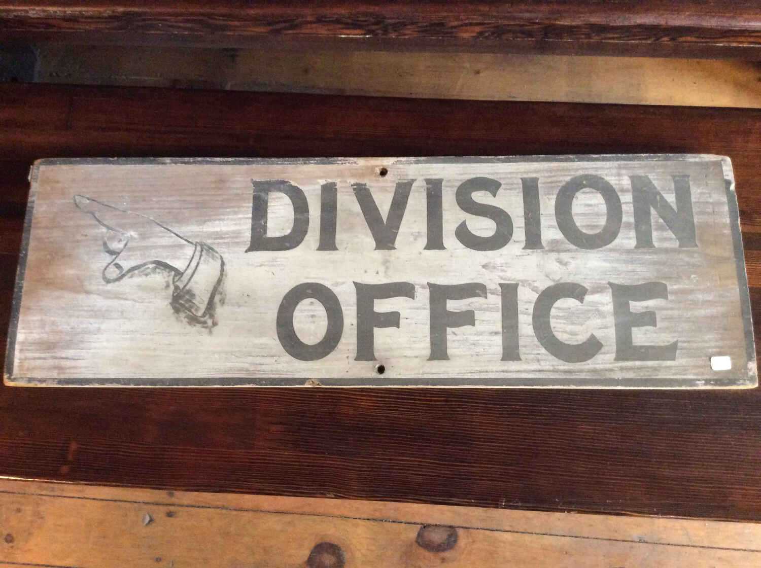 Antique Division Office Sign