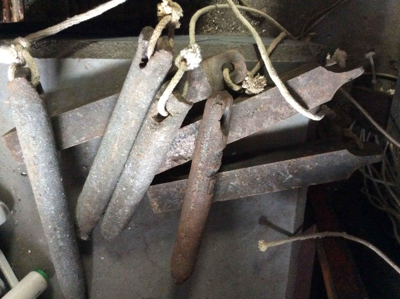 Antique Cast Iron Window Weights