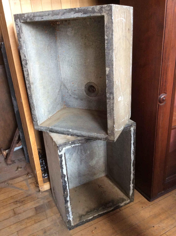 SOLD! Pr. Antique Soapstone Sinks