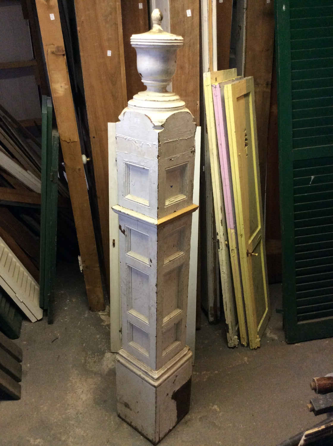 Antique Paneled Newell Post