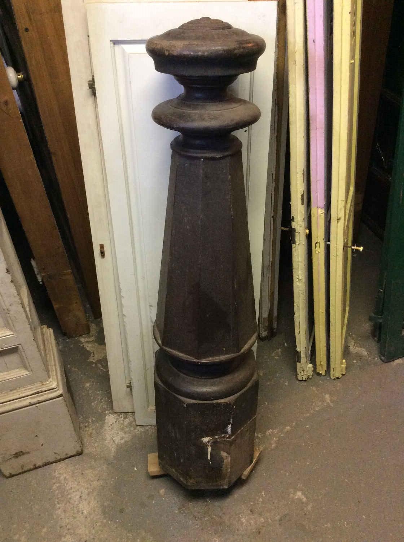 Victorian Walnut Newell Post