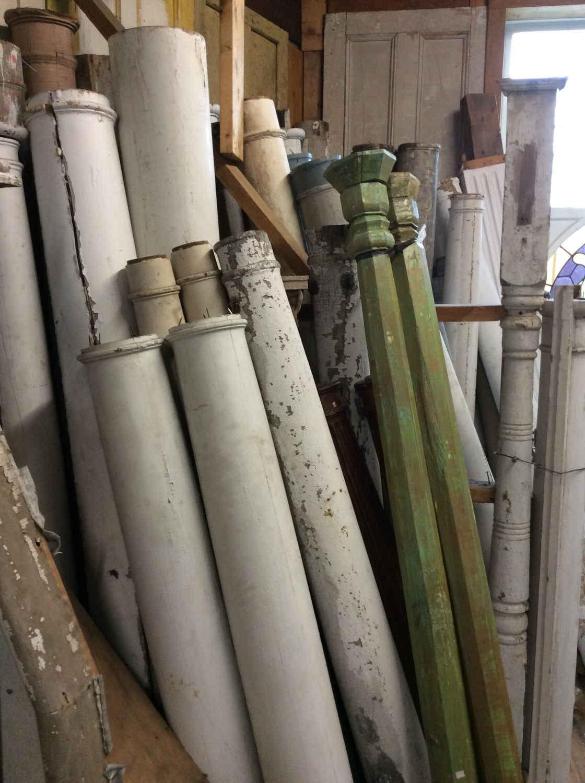Antique Wood Porch Columns