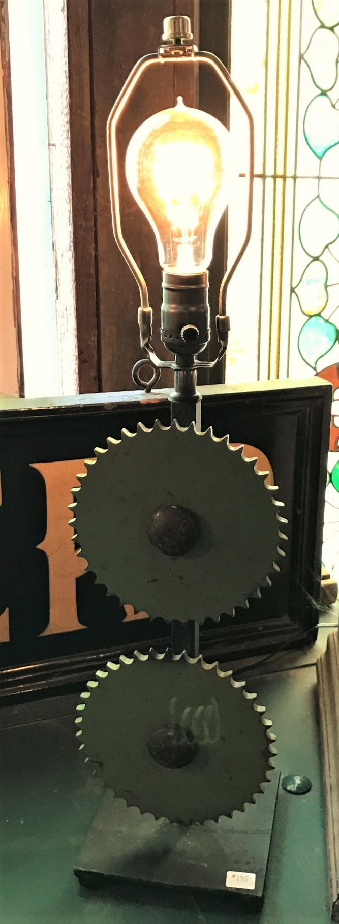 Steampunk Gear Lamp