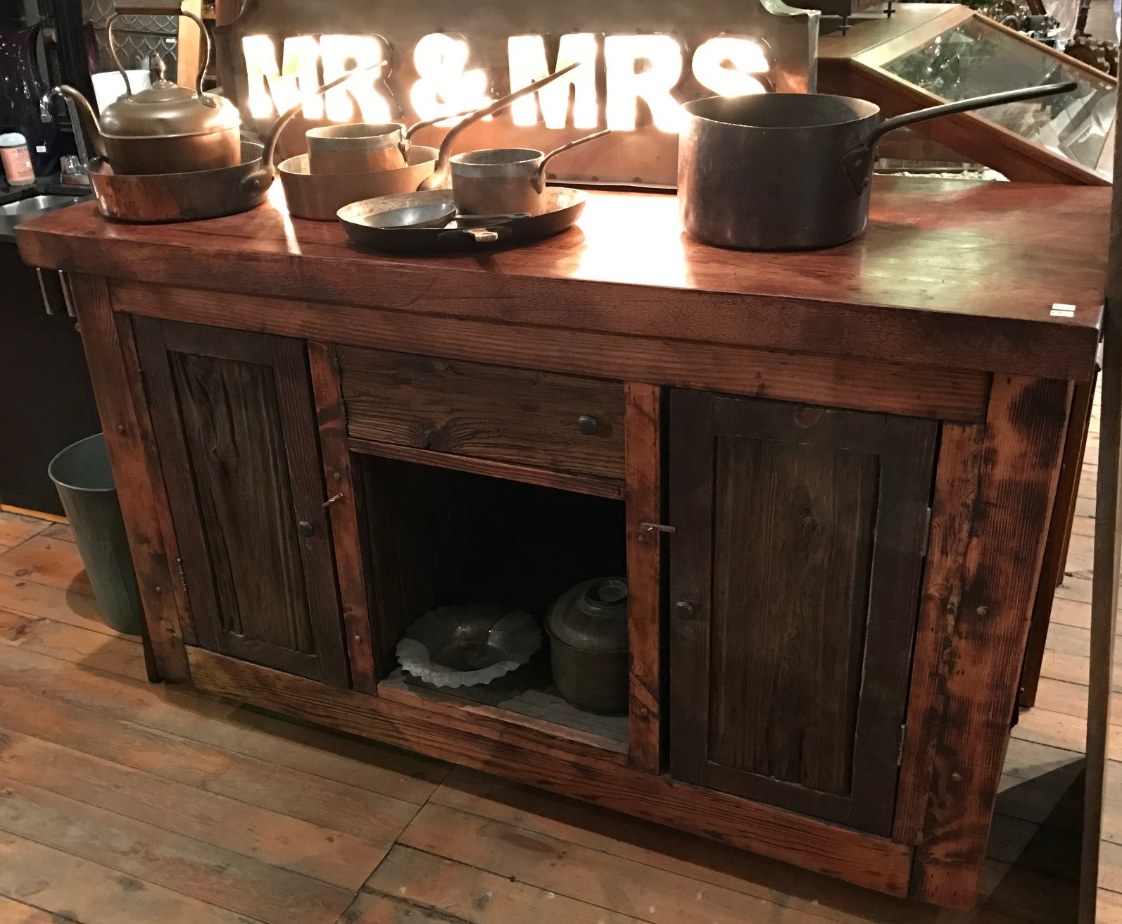 SOLD! Handcrafted Reclaimed Wood Cabinet