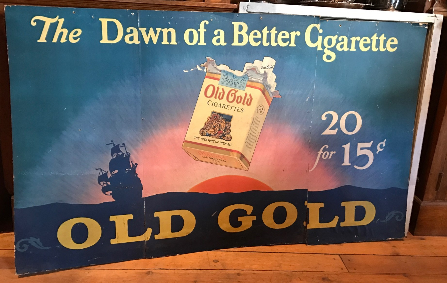 Old Gold Cigarette store advertising sign
