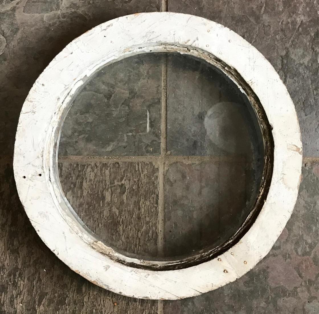 SOLD!! Antique Round Stationary Window