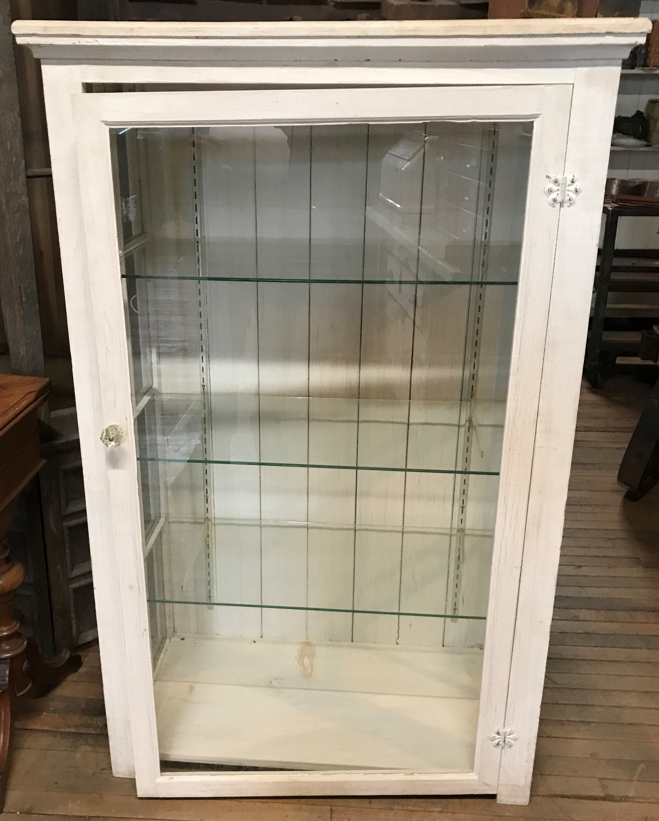 Pine Painted Display Cabinet