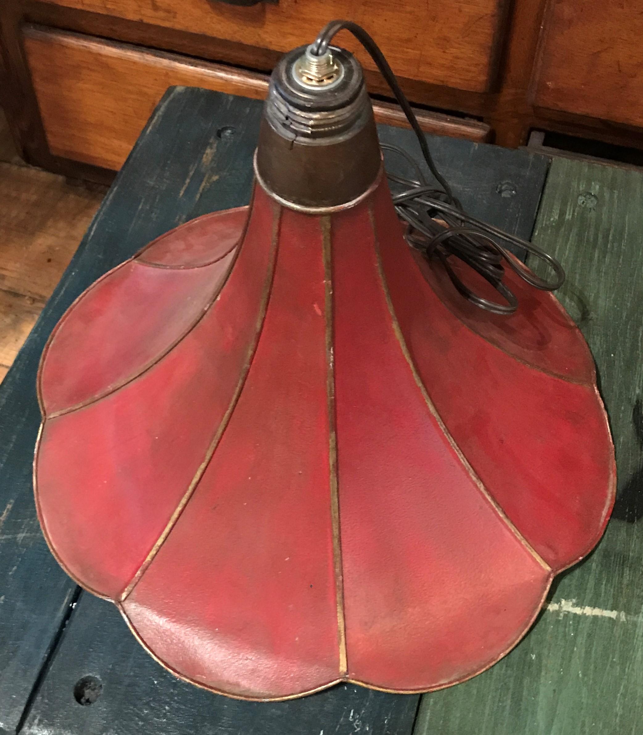 Antique Victrola Horn Drop Pendant Light