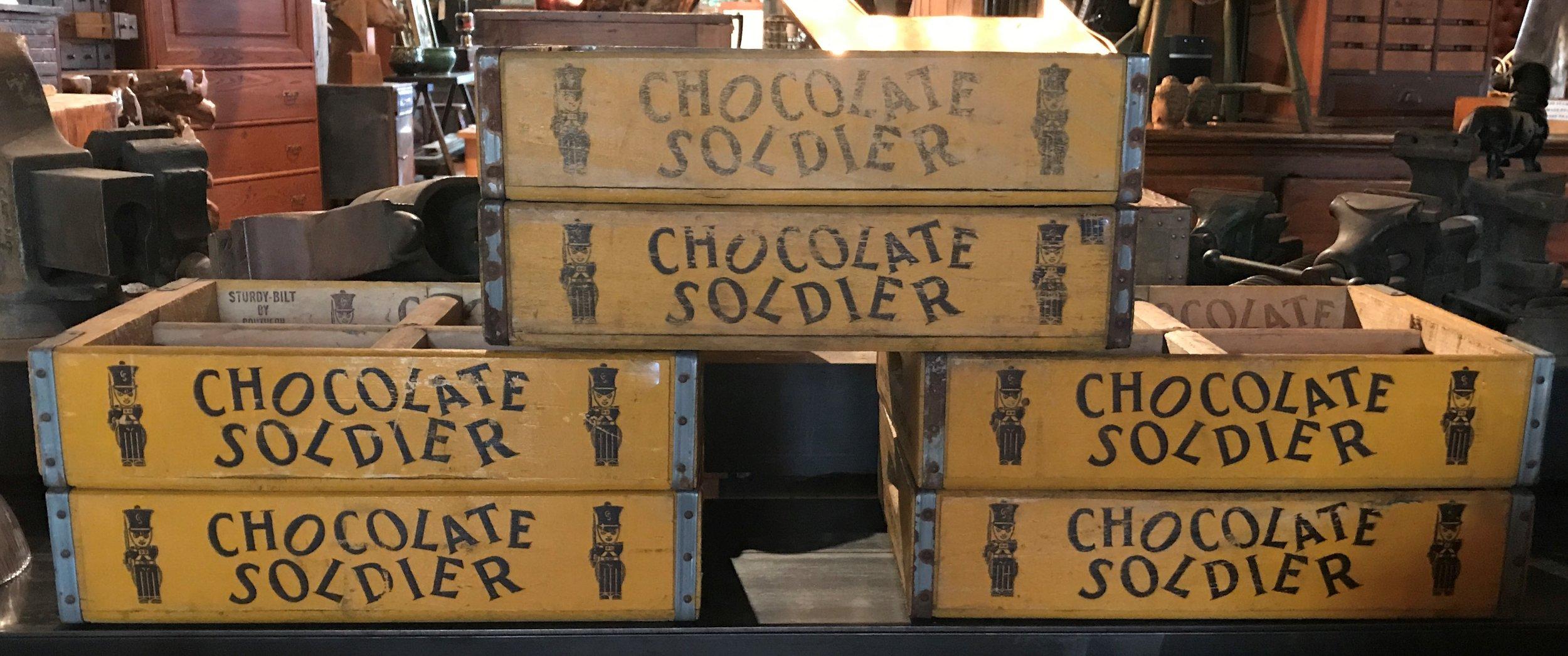 "Vintage ""Chocolate Soldier"" Crates"