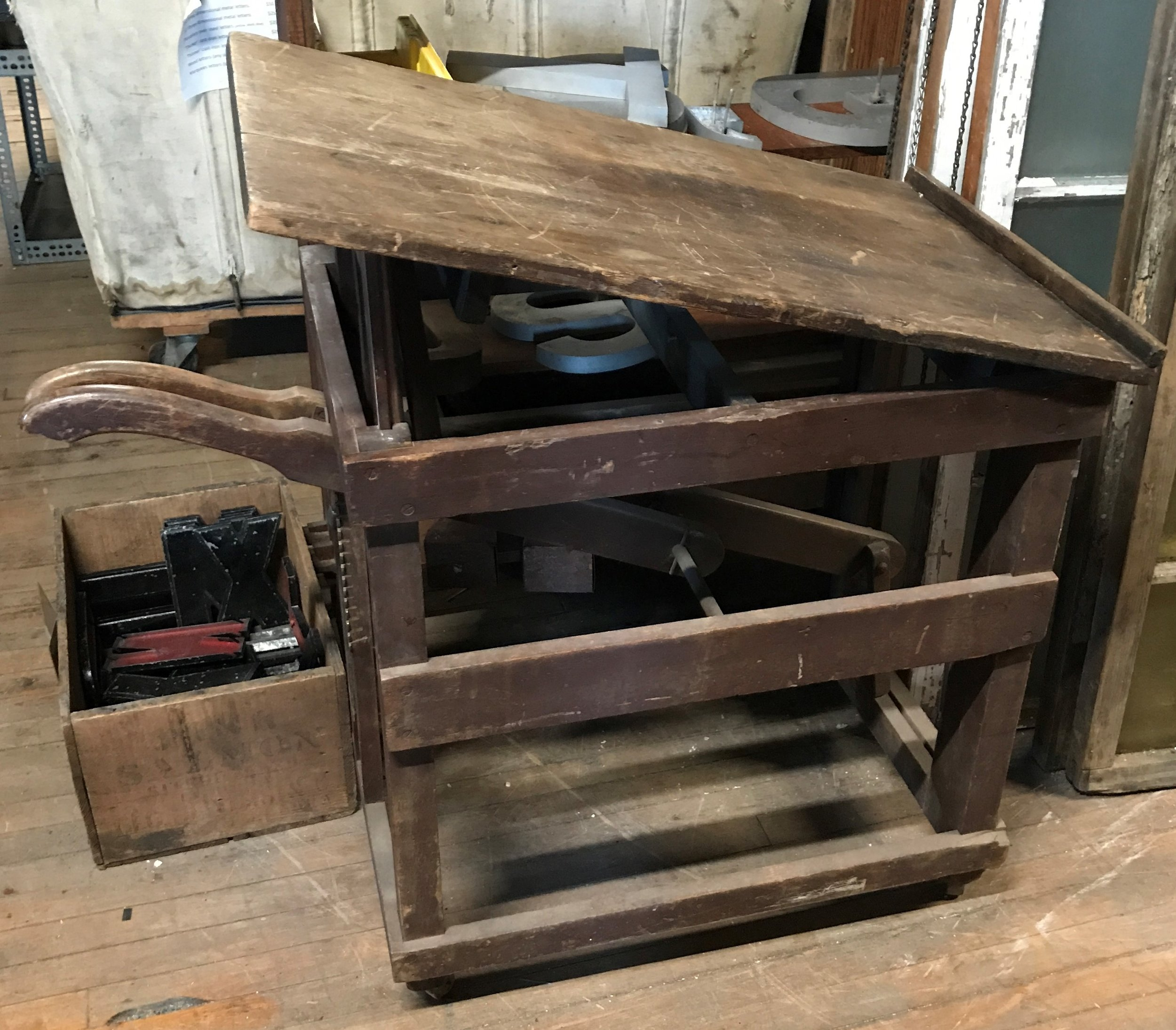 Rustic Drawing or Drafting Table  Table