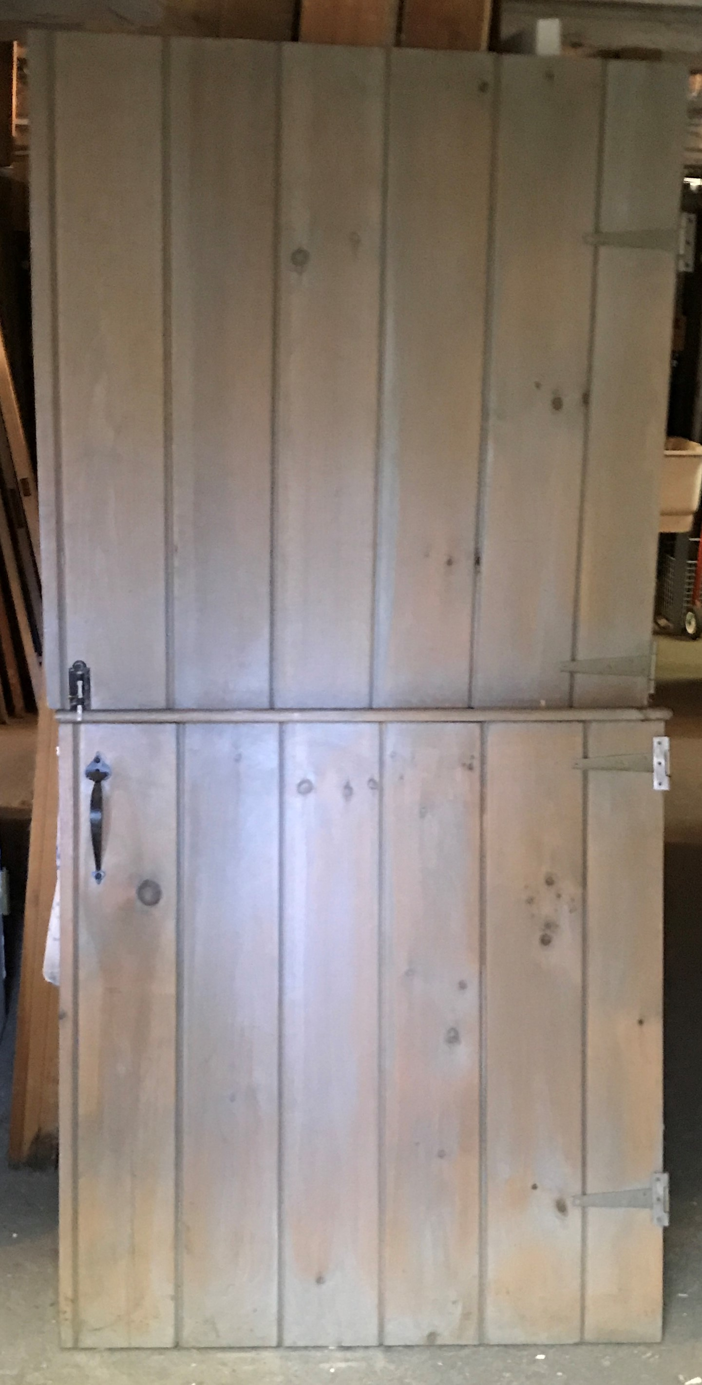 "Vintage 1950's  ""V Match"" Pine Dutch Interior Door"