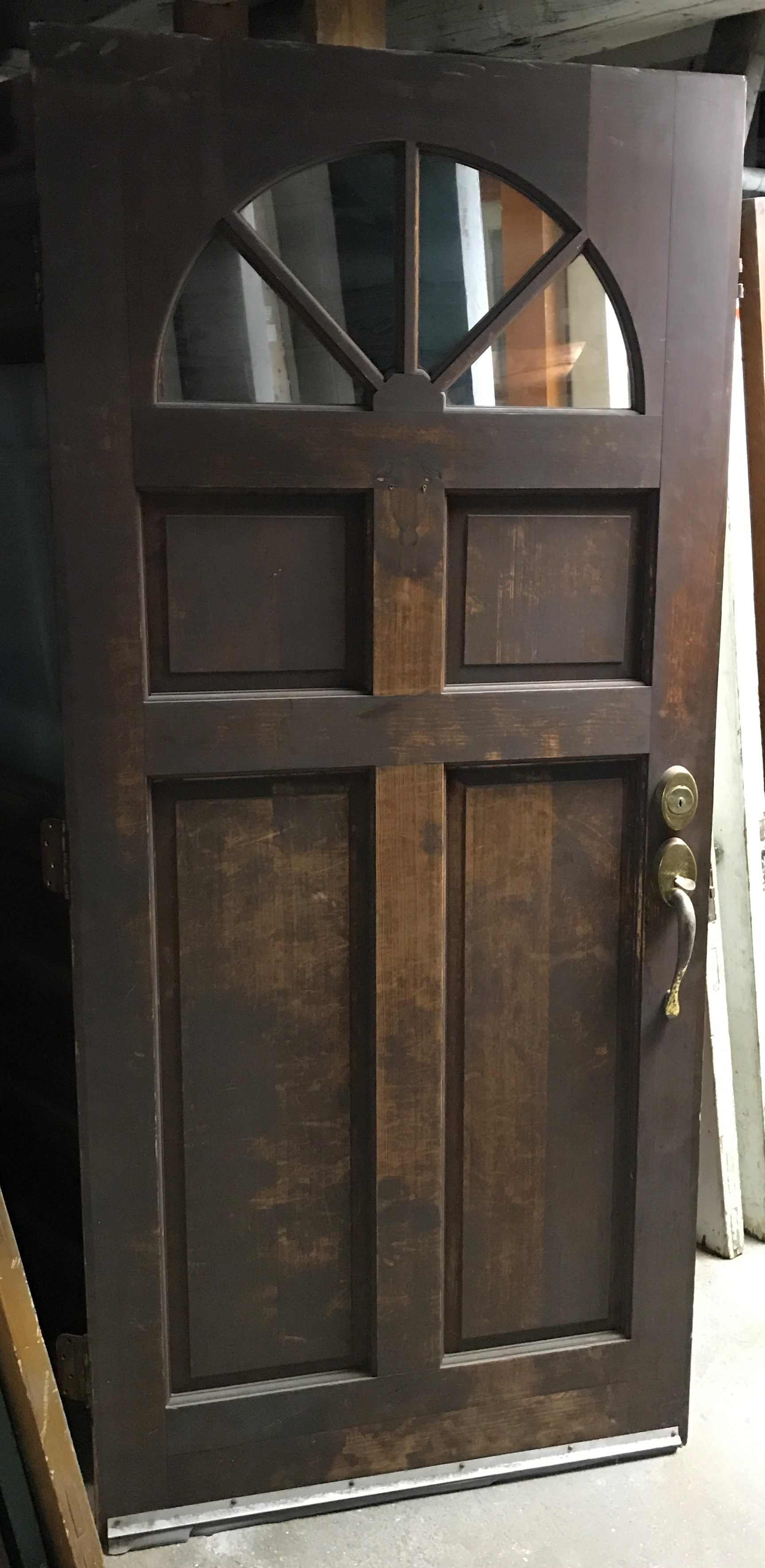 Vintage Colonial Style Entry Door