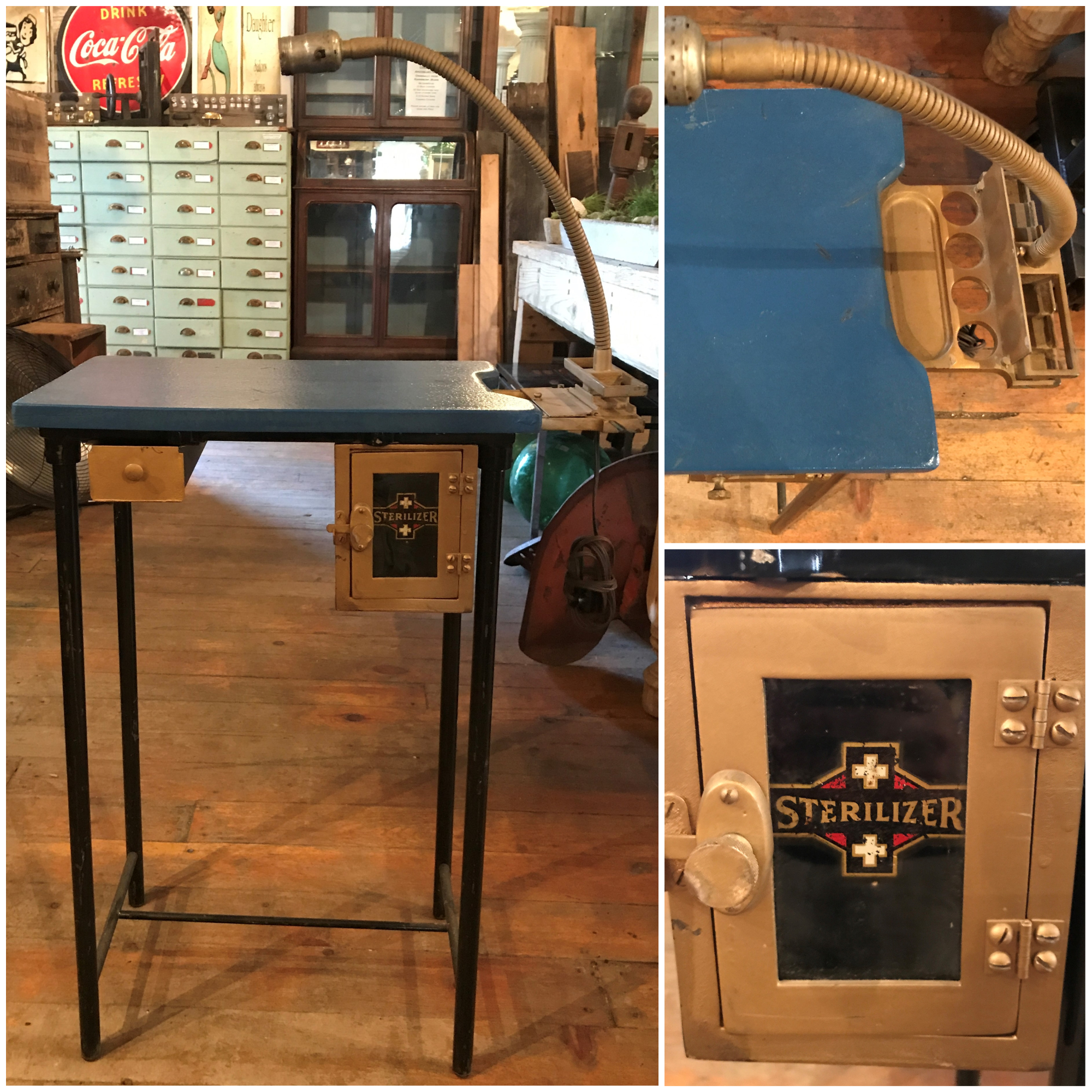 Cute Small Sterilizer Station Table with Light