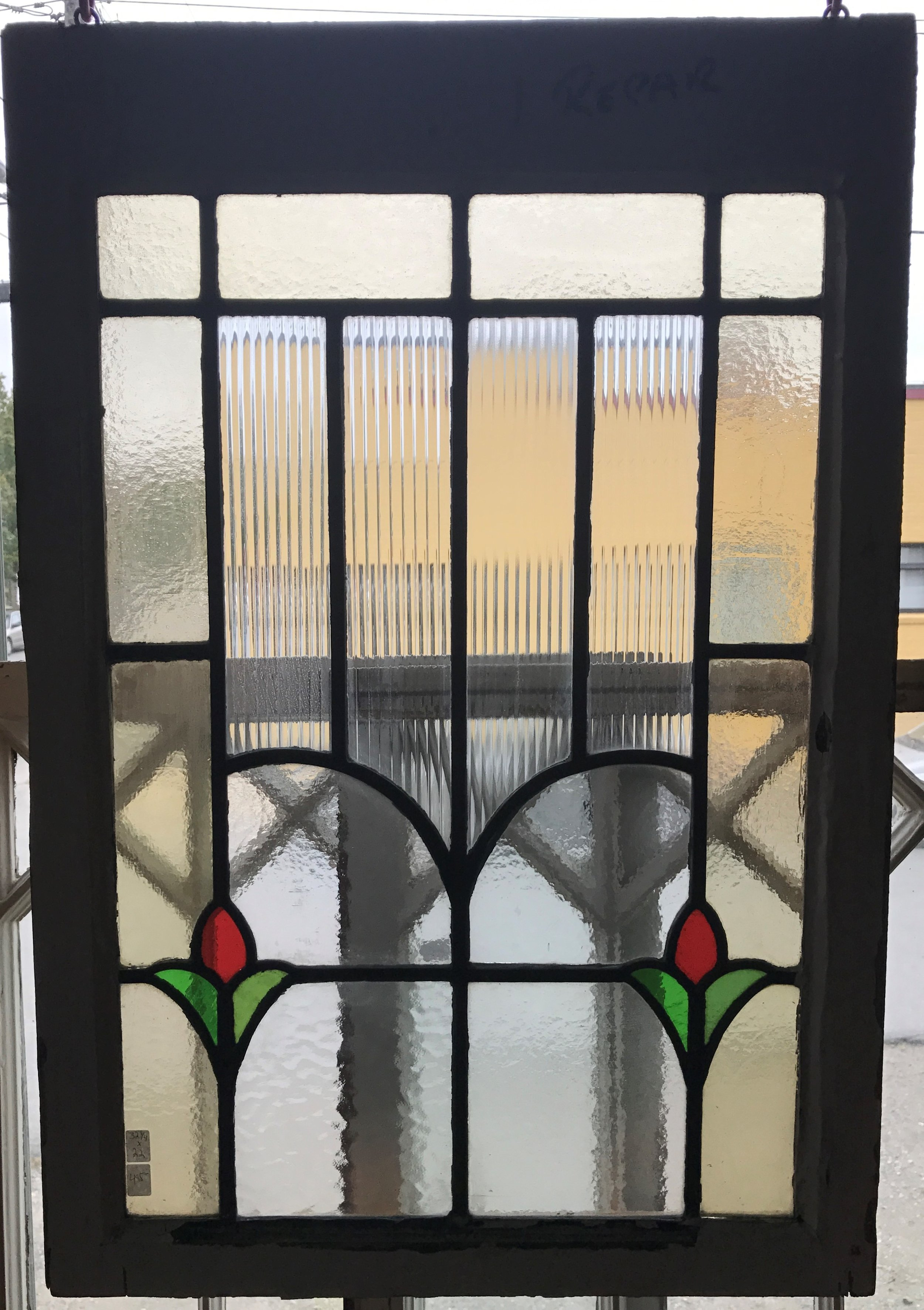 SOLD English Cottage Stained Glass Window