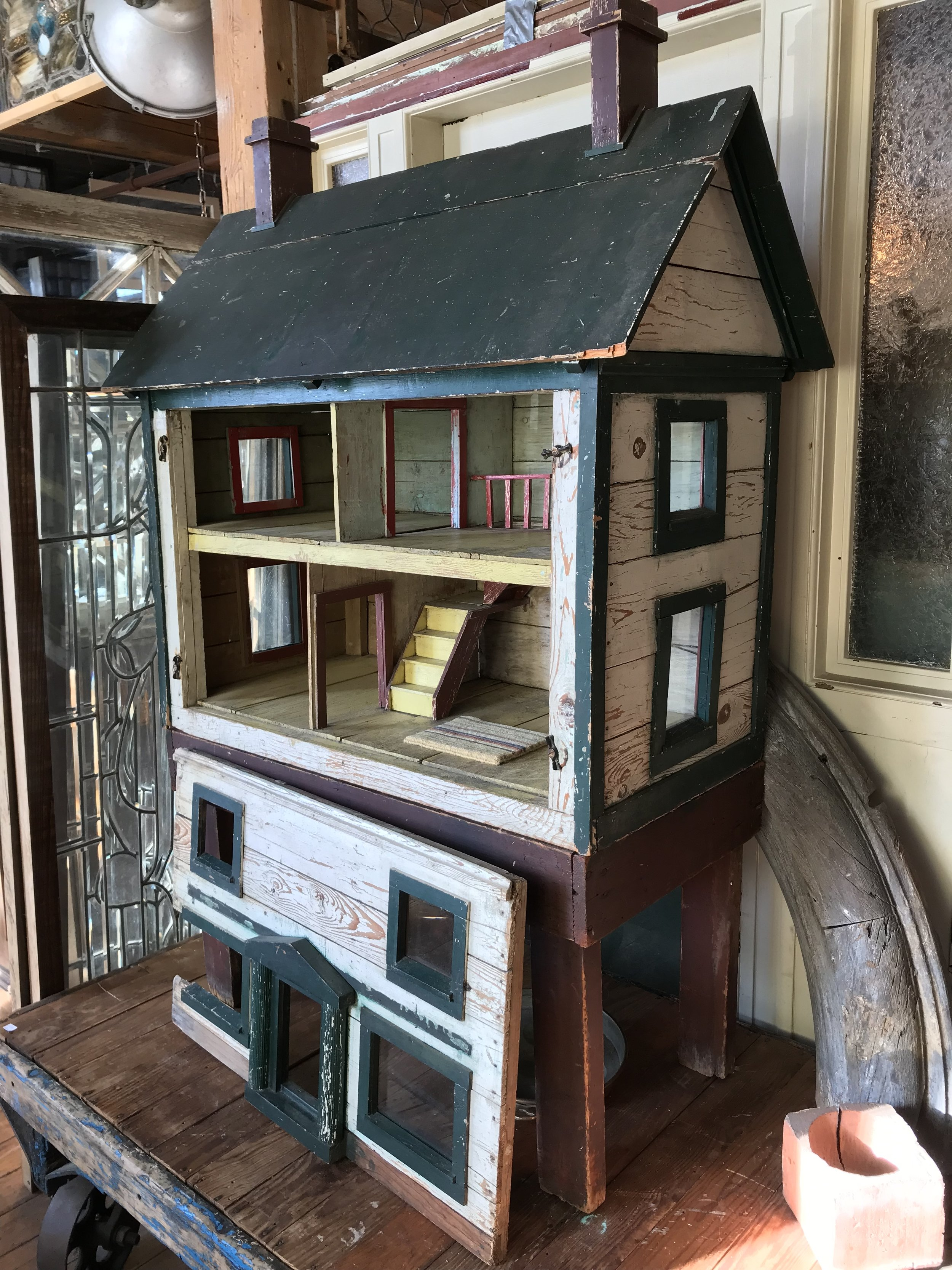 Antique hand built Doll House