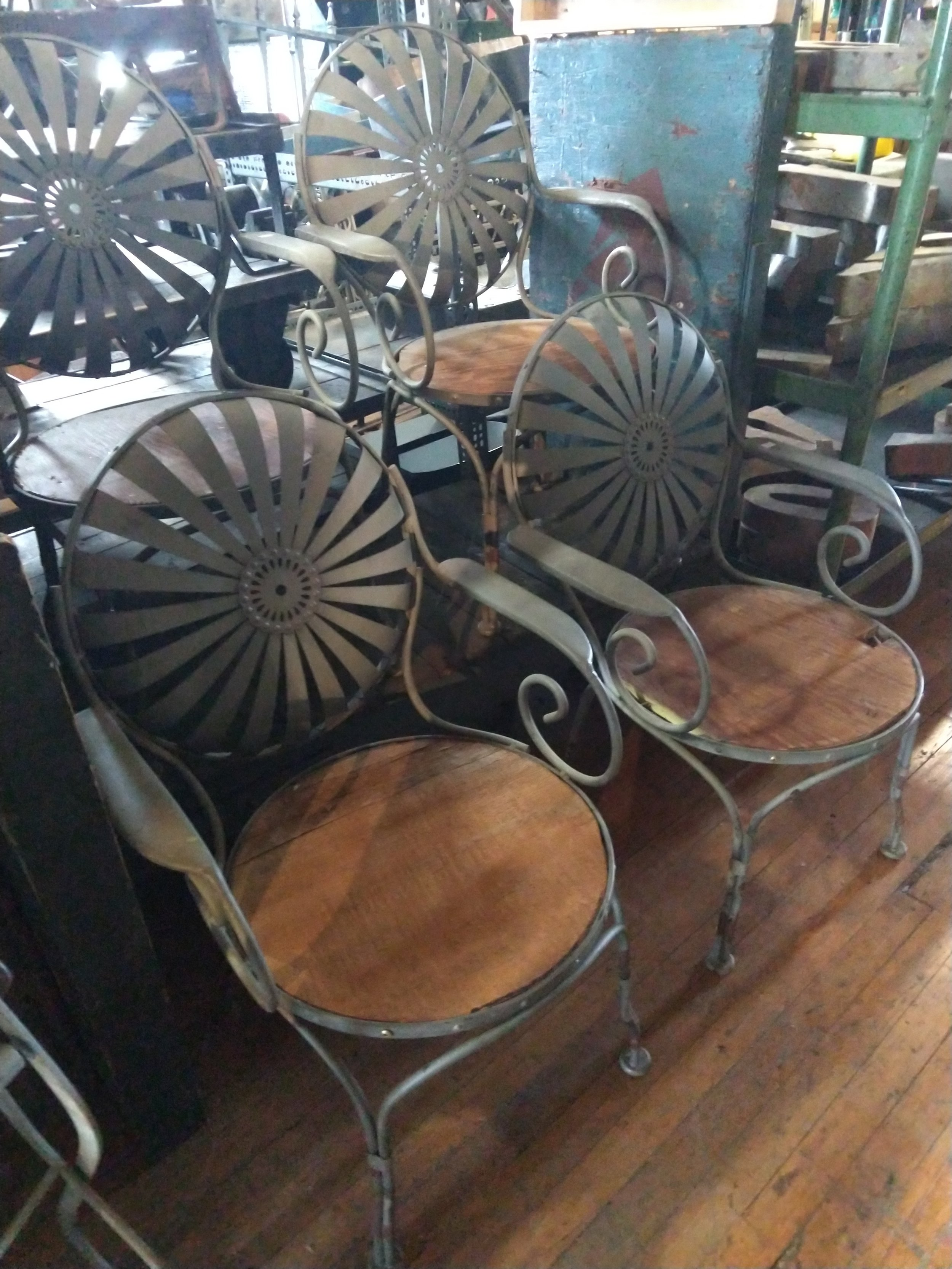 Set of (4) Francois Carre Garden Chairs