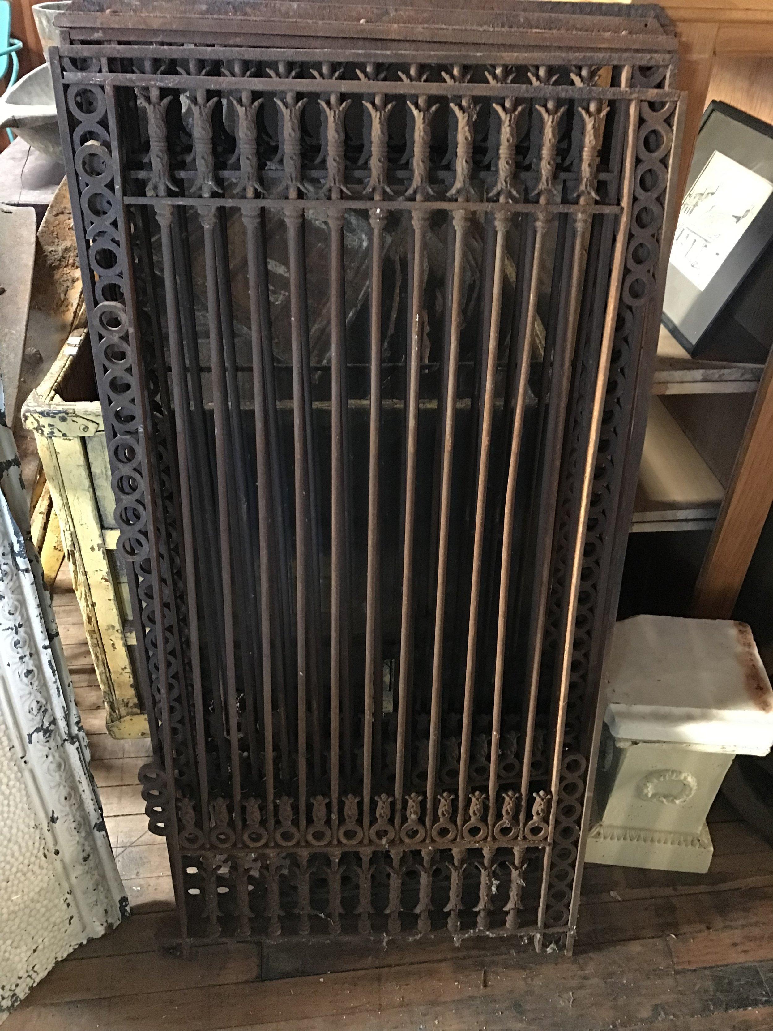 Antique Cast Iron Window Grilles