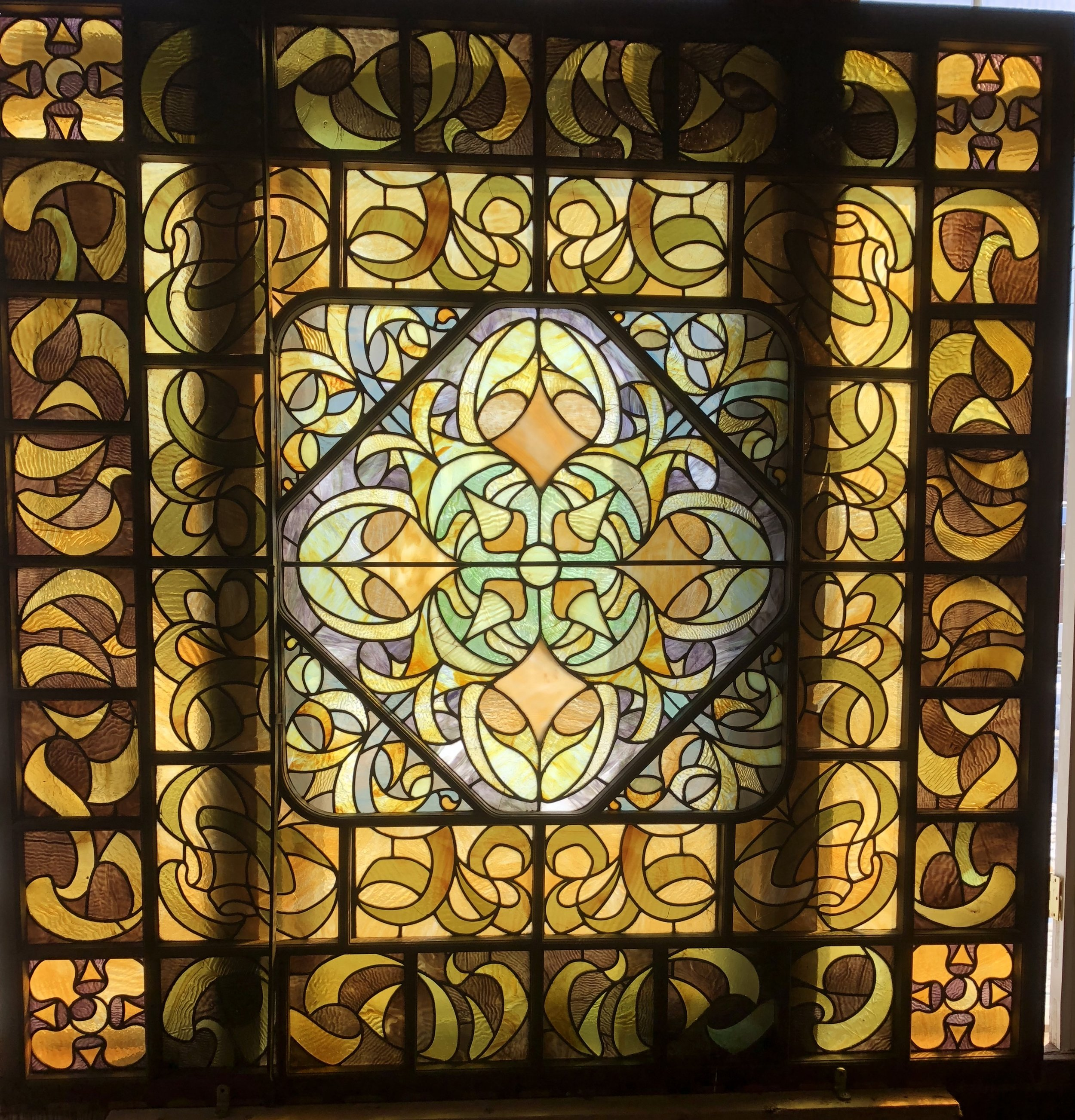 Antique Stained Glass Skylight