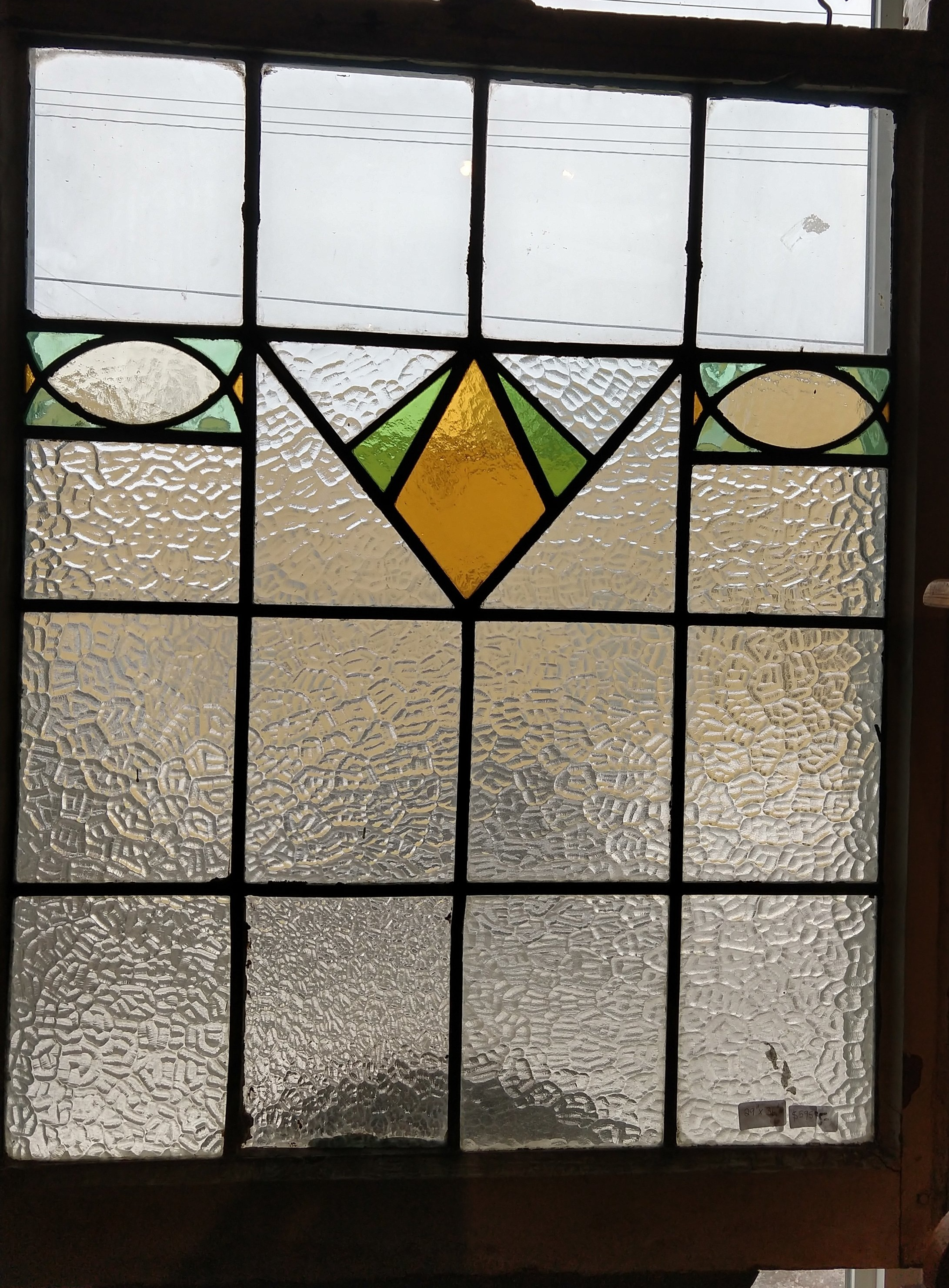 Large Art Deco style privacy window