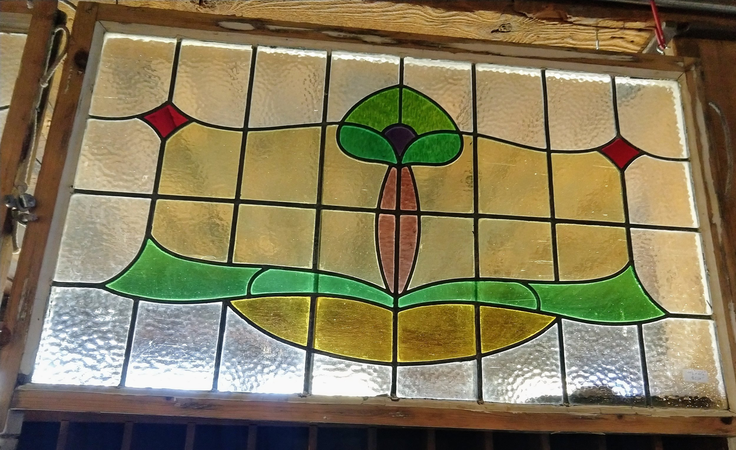 Pair of Large English Stained Glass Windows