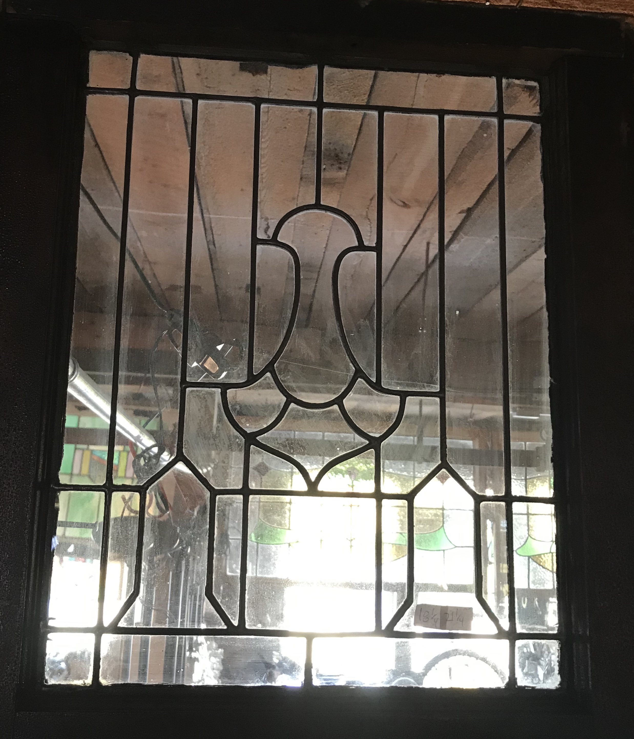 Small Antique Leaded Glass Window