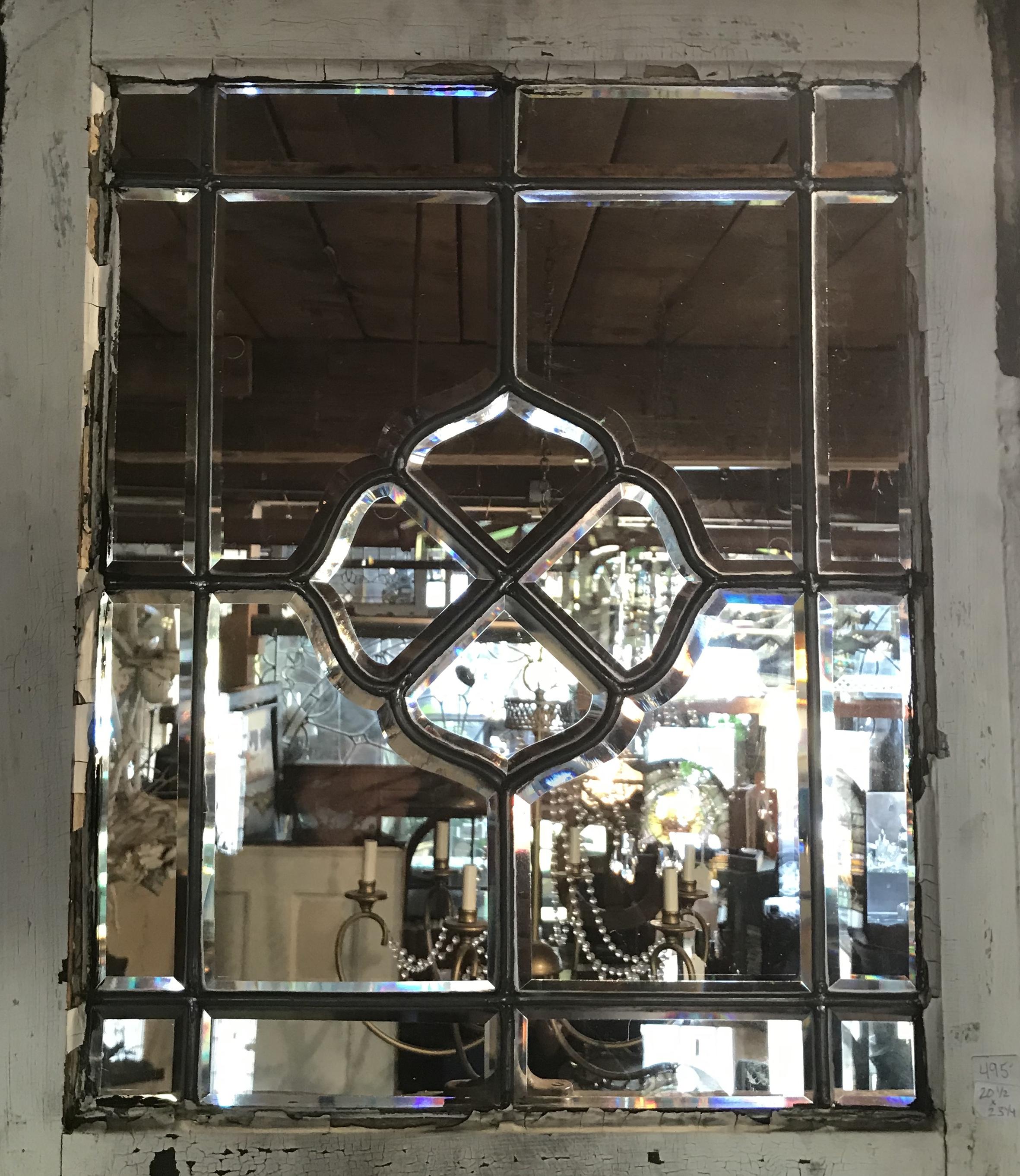 Antique beveled glass window