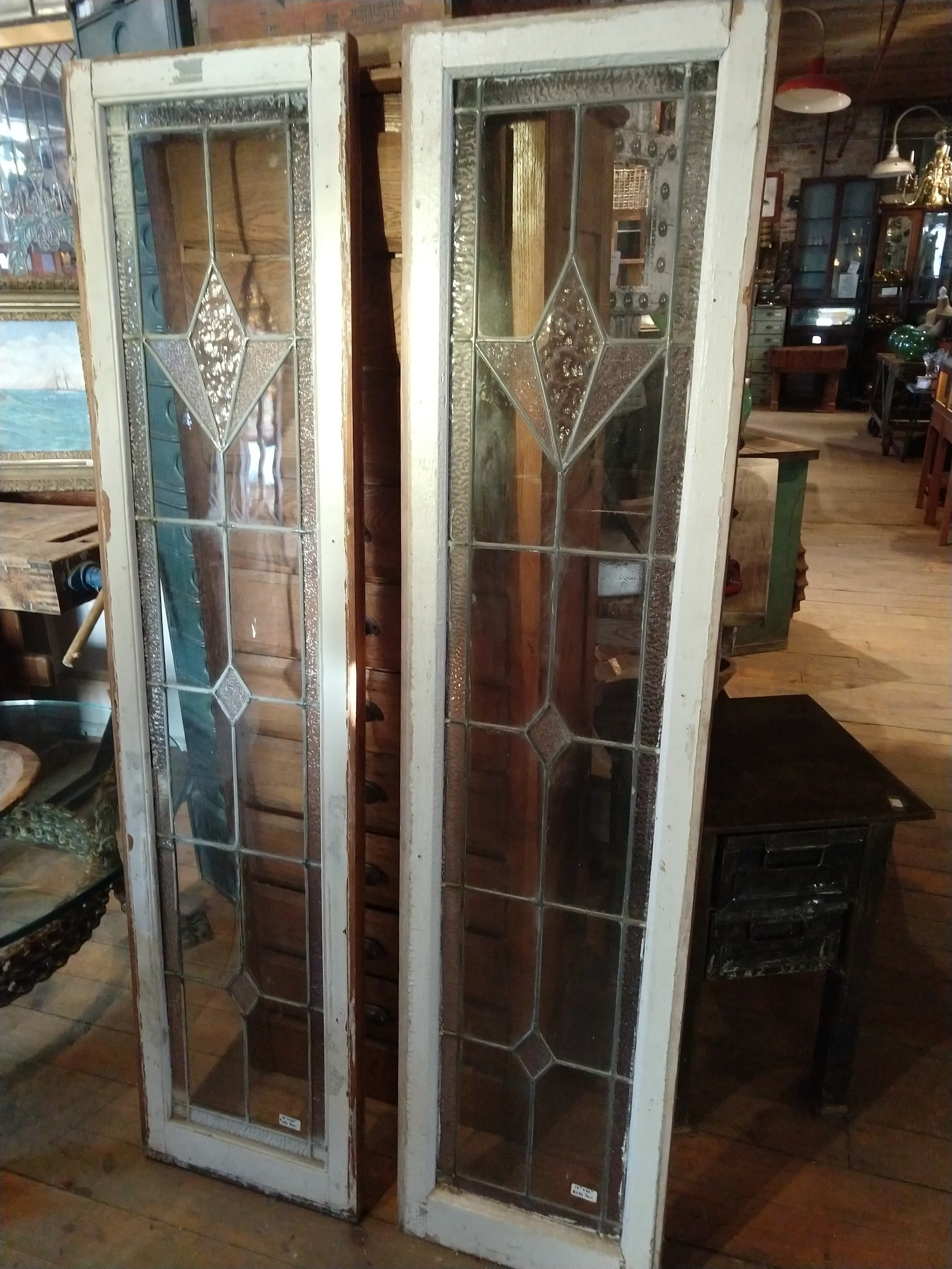 Pair of 1930's sidelights