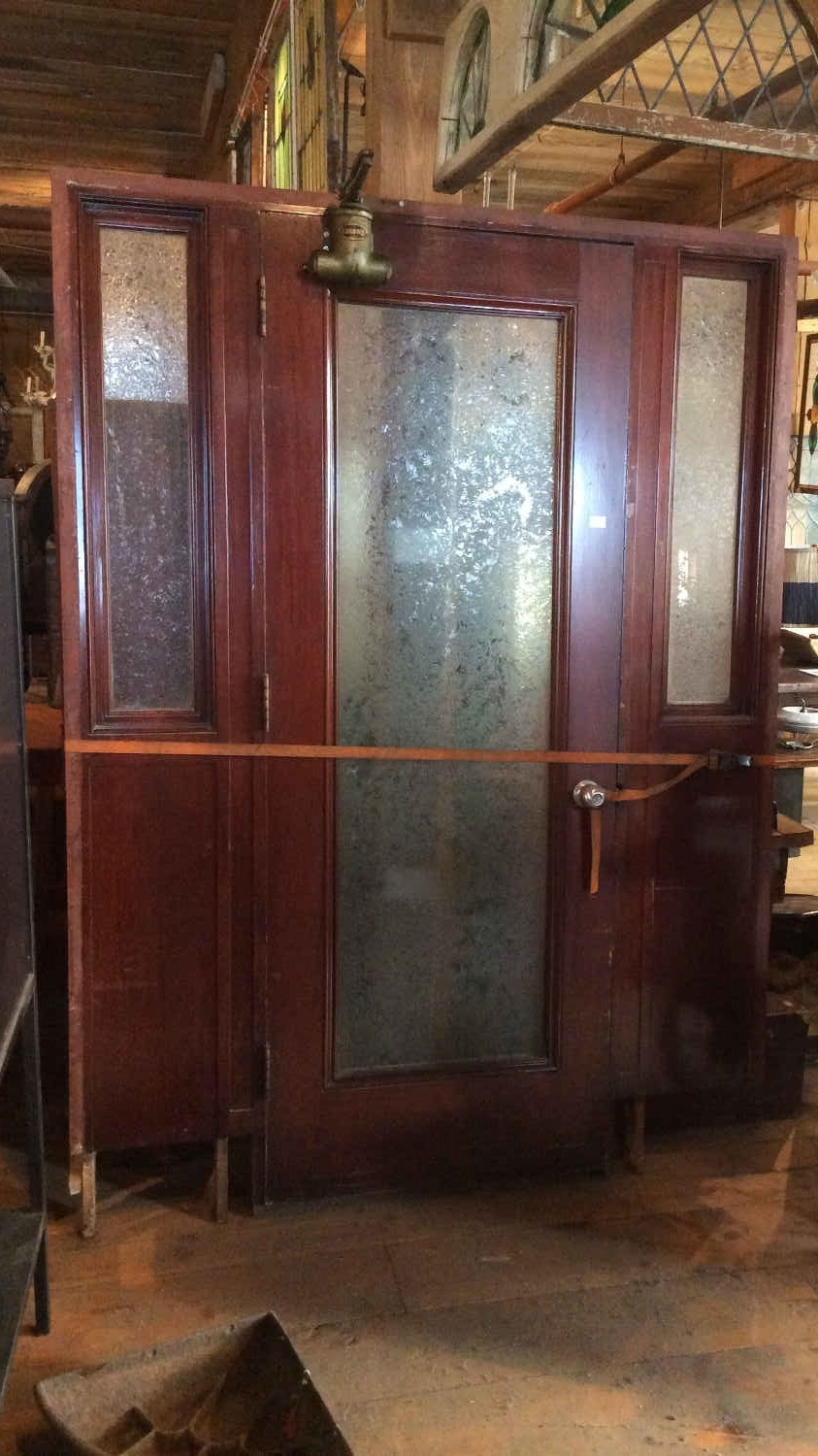 Mahogany Office Door w/Sidelights
