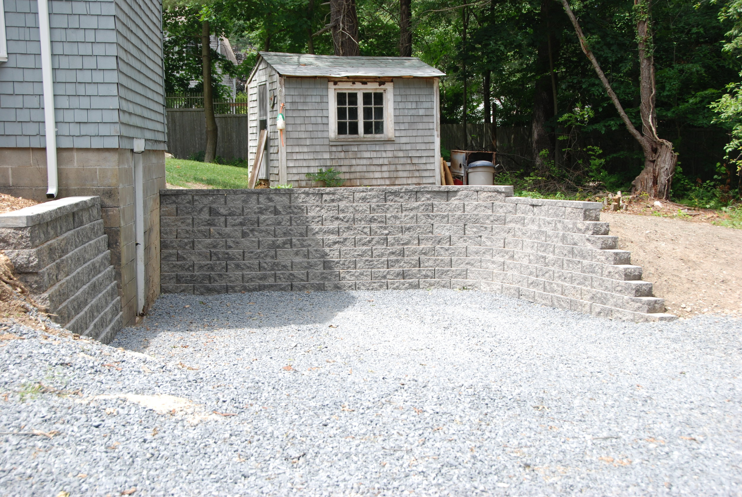 Retaining wall Scituate