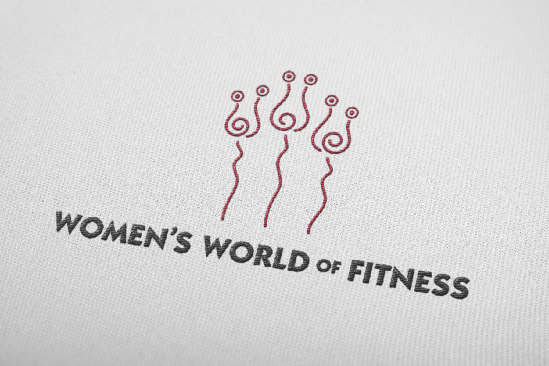 A gym concept for women, this logo aims to convey a feminine, yet strong personality. Corporate icon depicts three figures reminiscent of women lifting weights, as well as three blooming roses.