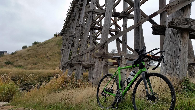 Ballarat skipton rail trail bridge