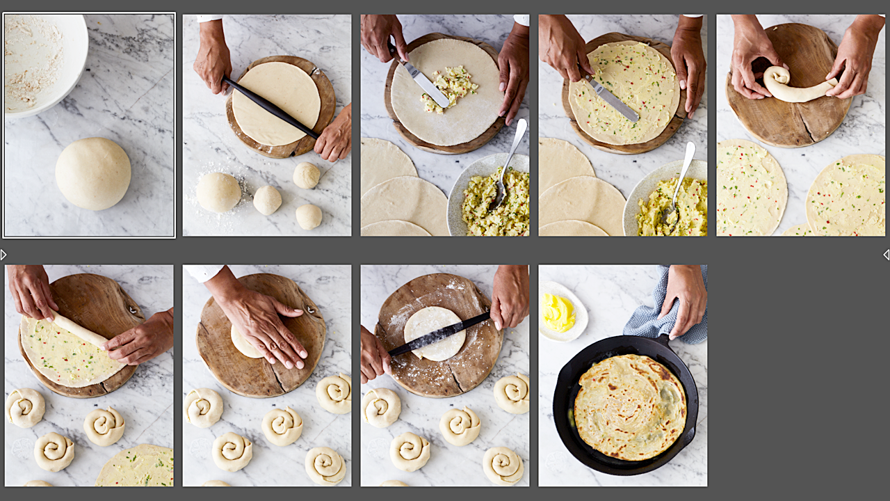 Step by step guide to making Paratha. As seen in NZ House & Garden. Photo by Manja Wachsmuth