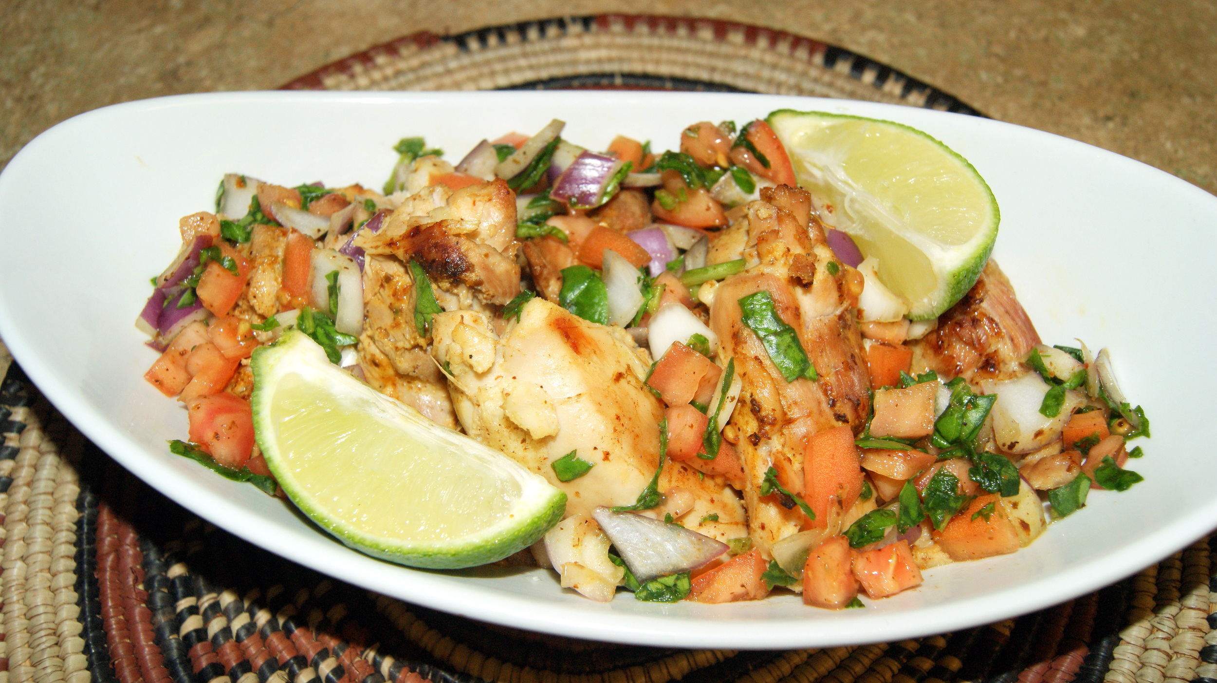 Baked Chicken with Homemade Salsa and Lime