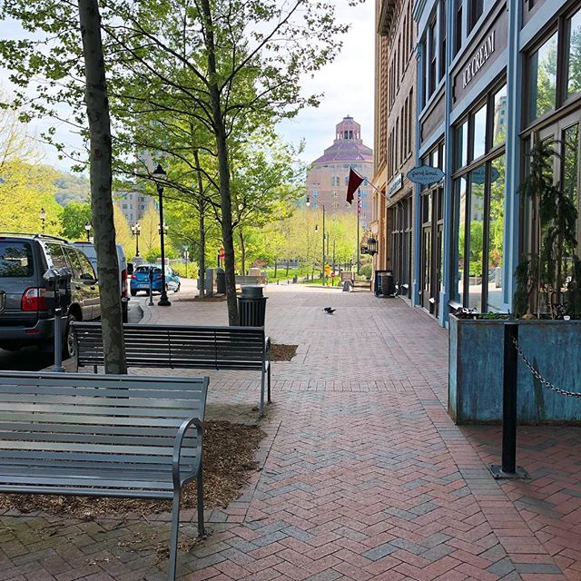 Lively Downtown #Asheville is just a few miles to the east of #CraggyPark
