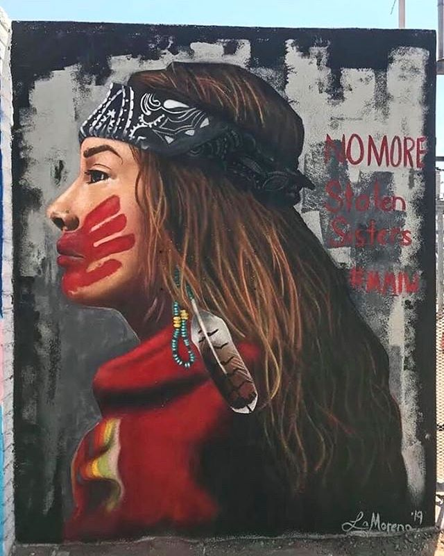 "This mural was created by @lamorena_art to bring attention to the epidemic of Missing and Murdered Indigenous Women that continues to escalate, as missing persons cases, lack of recognition of violence against Indigenous women, and a critical lack of institutional documentation of violence continue to under-represent the full scope of abuse against Indigenous women and girls. ""According to the National Crime Information Center, 5,712 missing American Indian and Alaska Native women and girls were reported in 2016, while only 116 cases were reported by the US Department of Justice's federal missing person database."" The absence in the legal data of Indigenous women who have been the victims of brutal assault and murder is explored by several contemporary research studies attempting to redress the reasons for this lack of detailed information. #mmiw #mujeres #justice #indigenouswomen #lamorena #muralsofphoenix #phoenix #phx #dtphx #mural #murals #culture #az #arizona"