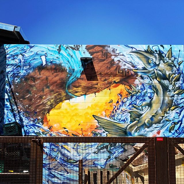 Check out this new mural by @thescarce_org at the @thechurchillphx Created for the 1 1/2 street project. Swipe to check out some detail shots! ➡️➡️ . #scarceelementz #leter91 #thescarce #muralsofphoenix #phoenixmurals #phxmurals #azmurals #mural #murals #phoenix #phx #dtphx #az #arizona #art #arte #urbanart #publicart #streetart #phxart #phoenixart #artist #wallart #azculture #culture #graff #graffiti #ocean #desert #wave