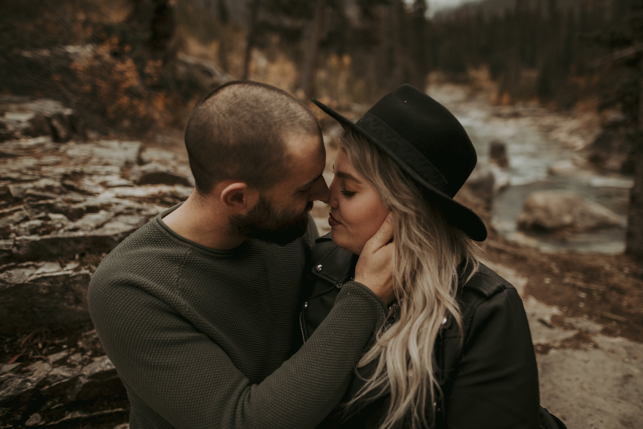 Close Up Couples Portraits - Best Cochrane Banff Canmore Photography