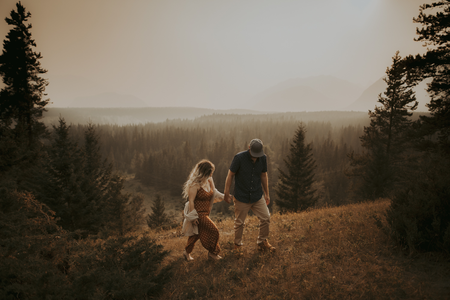 Sunset Engagement Couples Photography - Banff Canmore Cochrane