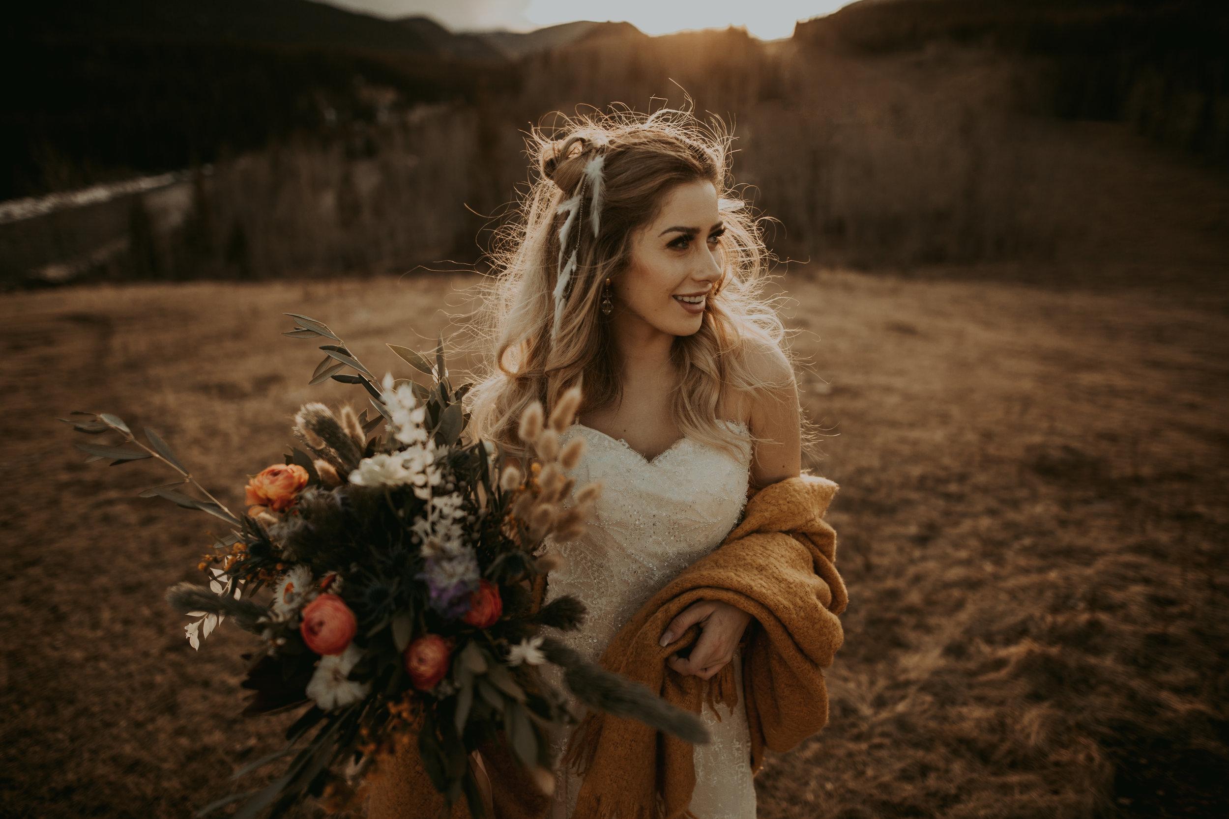 Boho Bridal Inspiration , Banff Elopement Photographer, Banff Photographer