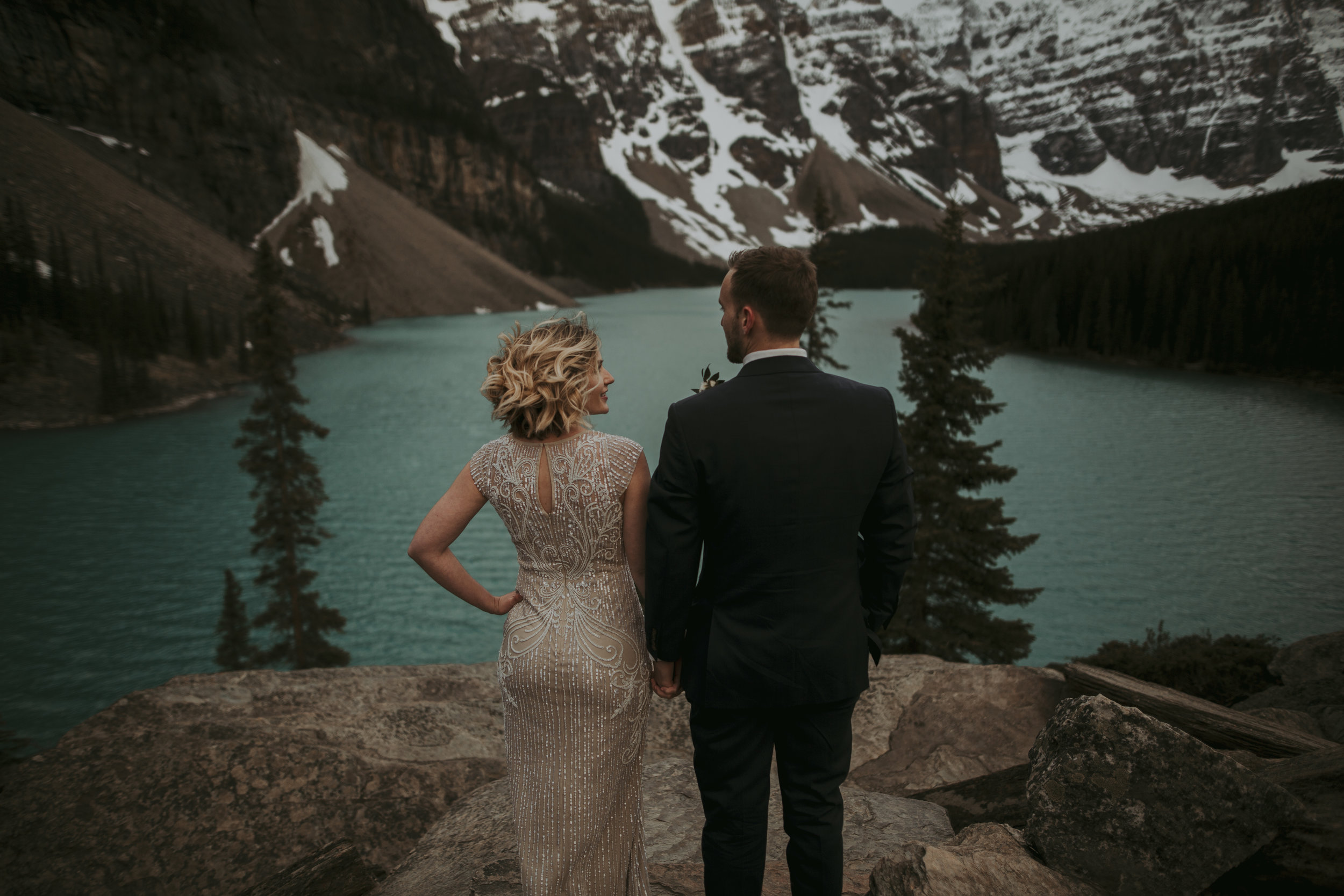 Moraine Lake Elopement, Moraine Lake Photographer, Banff Elopement Photographer, Banff Photographer, Banff Elopement, Emerald Lake Elopement