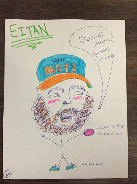 Eitan in a Mets Hat