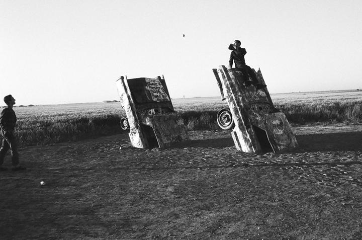 Patrick and Zac - Cadillac Ranch, Texas