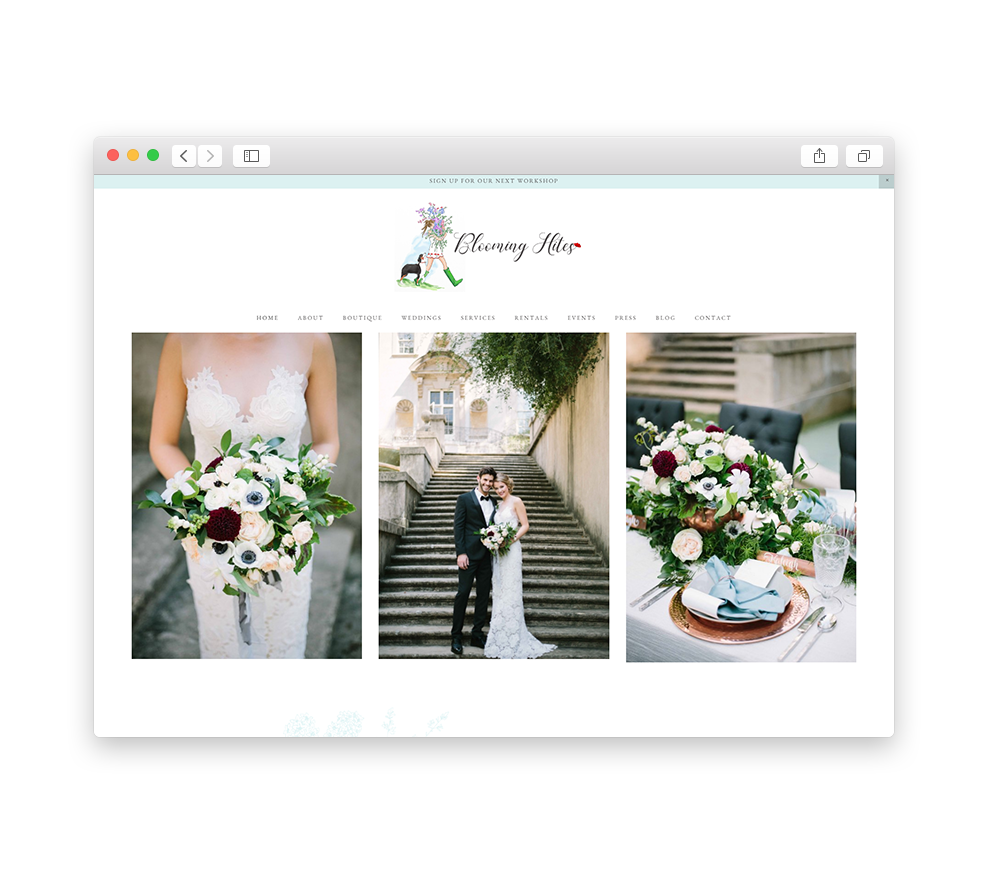 Blooming Hites Website Launch
