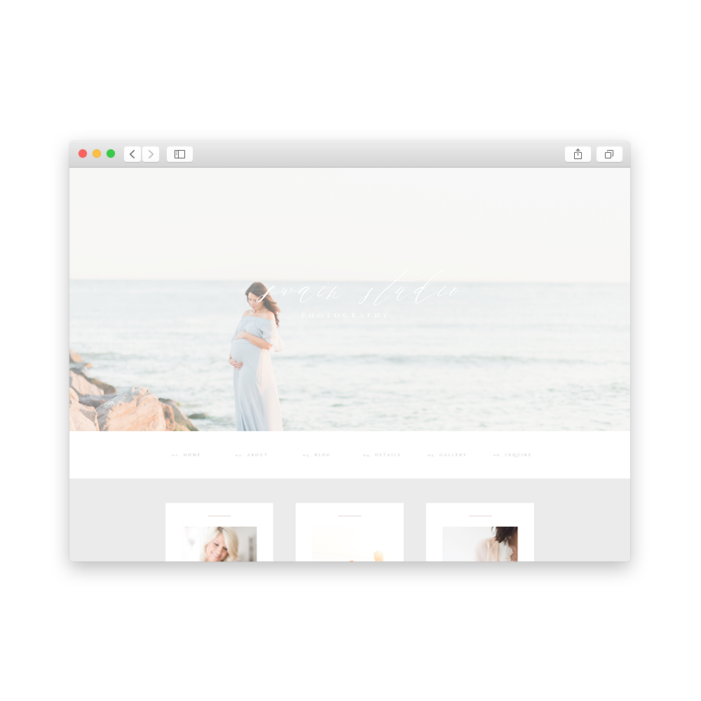 Brand and Website for Swain Photography - By Magnolia Creative Studio