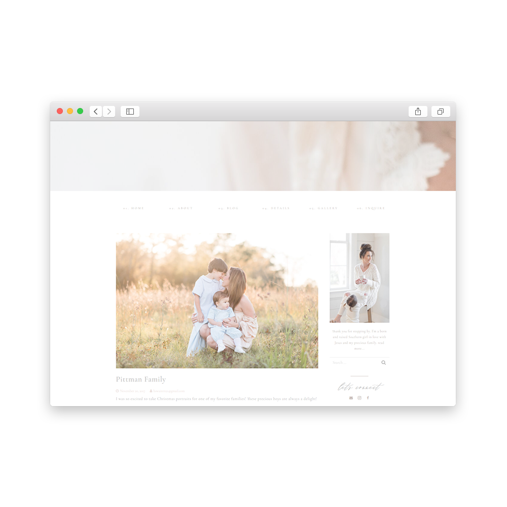 Brand and Website for Swain Studio Photography - By Magnolia Creative Studio
