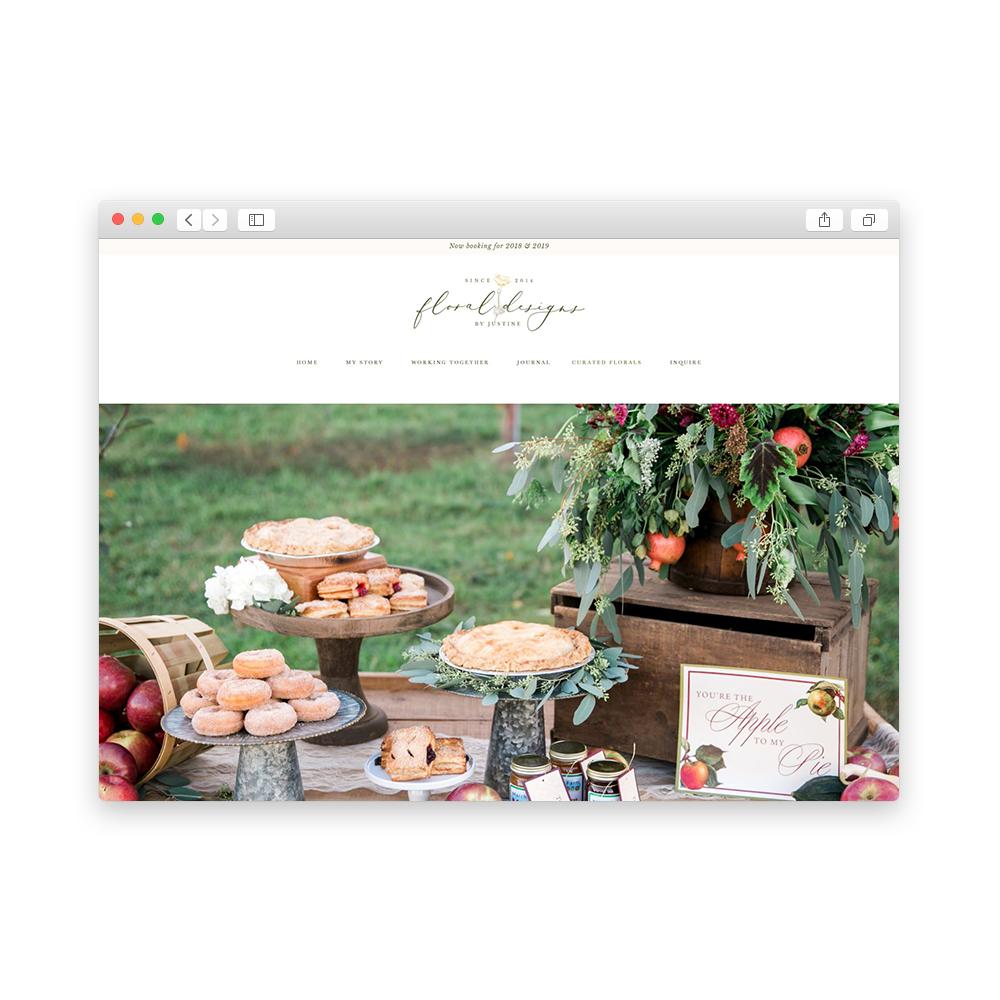 Website Floral Designs by Justine