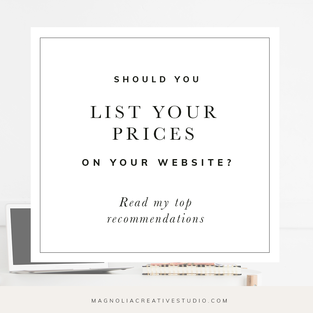Should you list your prices on your website?