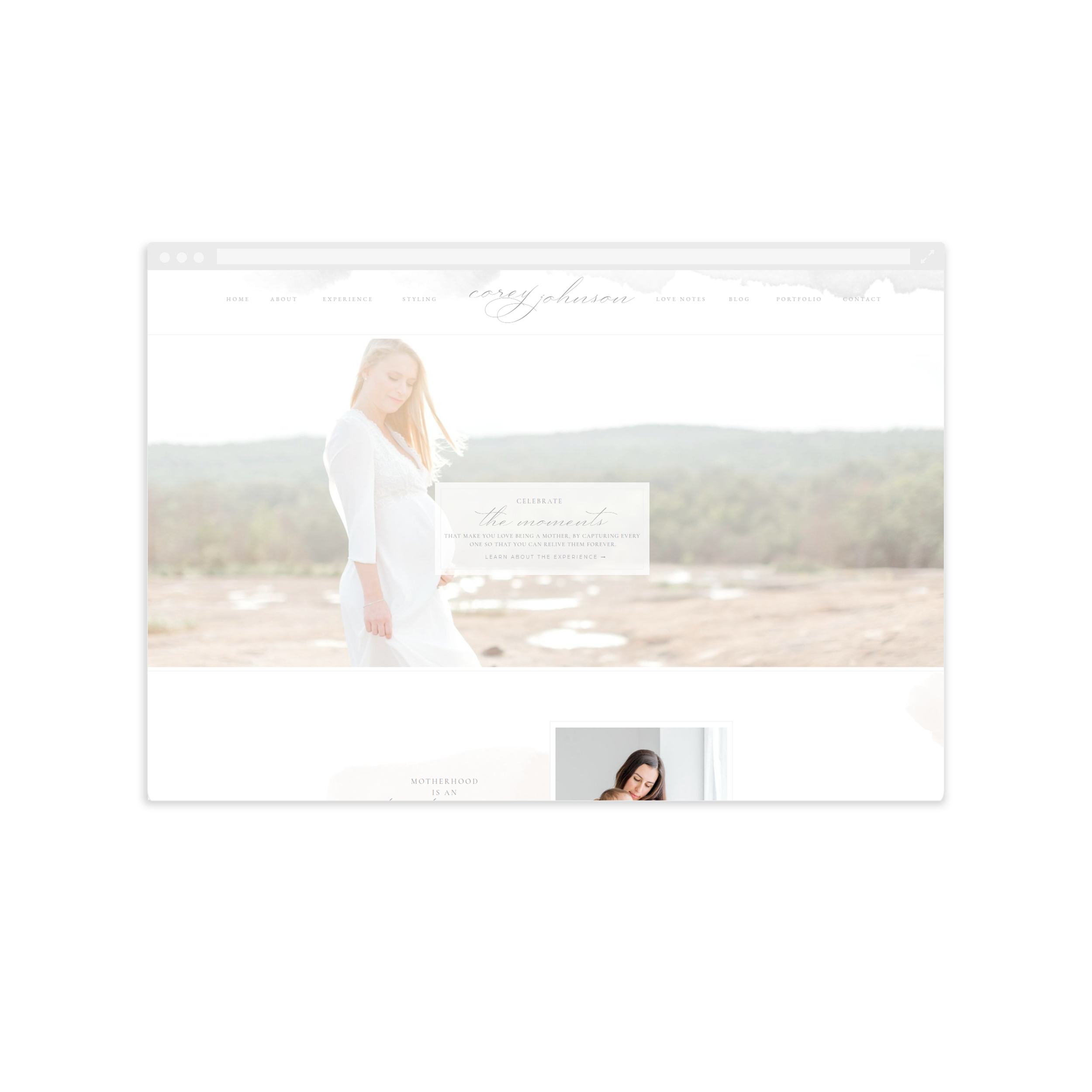 Showit Website for Corey Johnson Photography - By Magnolia Creative Studio