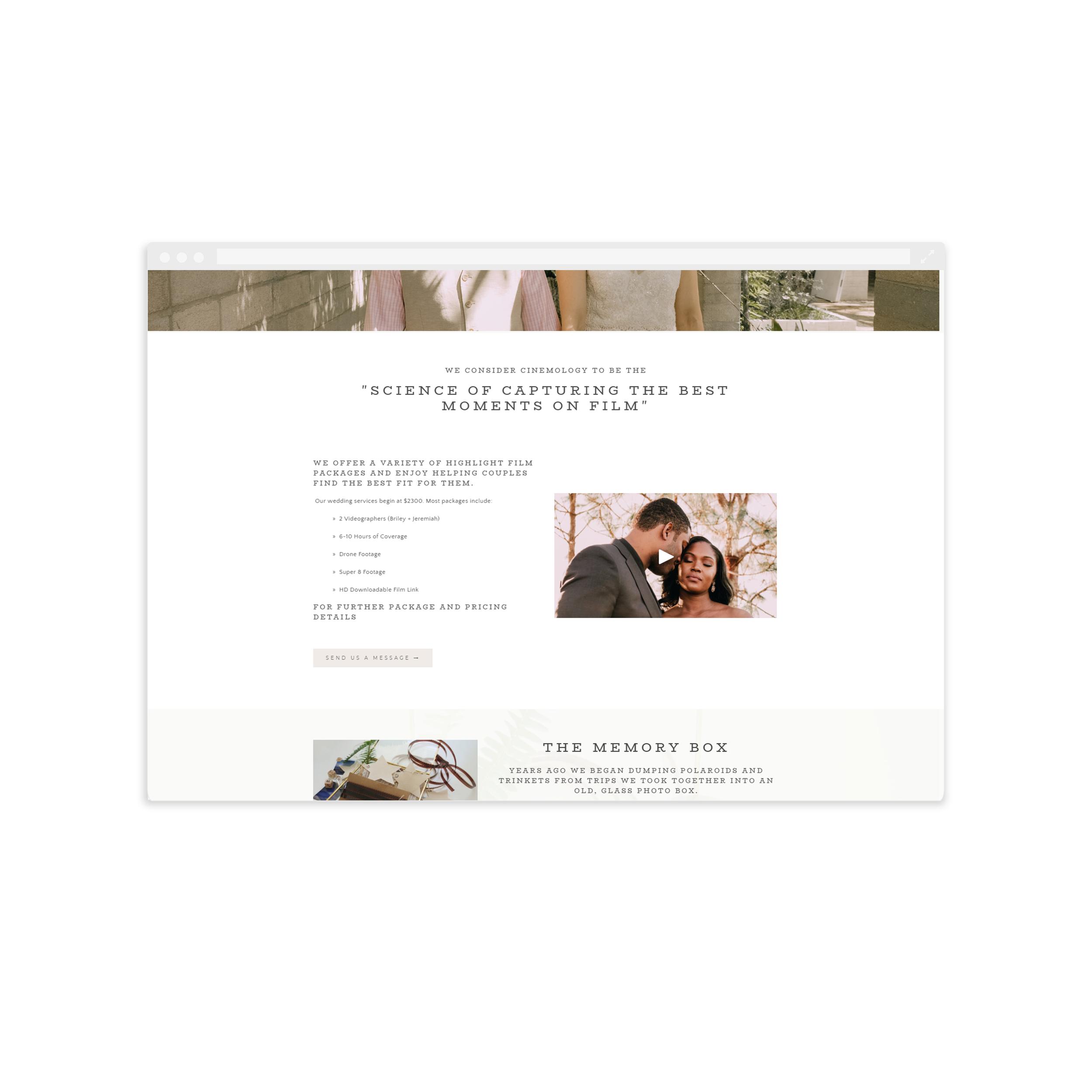 Cinemology Website Design by Magnolia Creative Studio